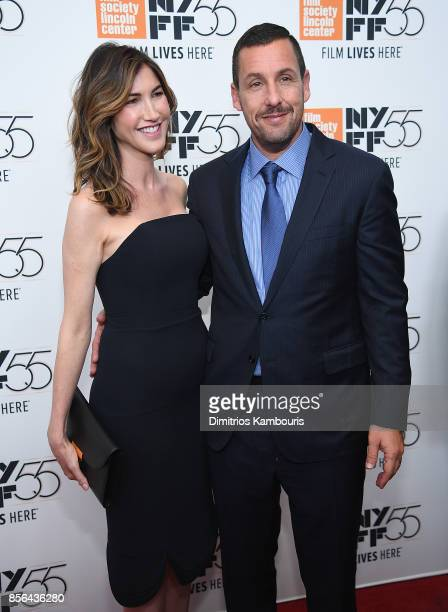 Adam Sandler and Jackie Sandler attend The 55th New York Film Festival Meyerowitz at Alice Tully Hall on October 1 2017 in New York City