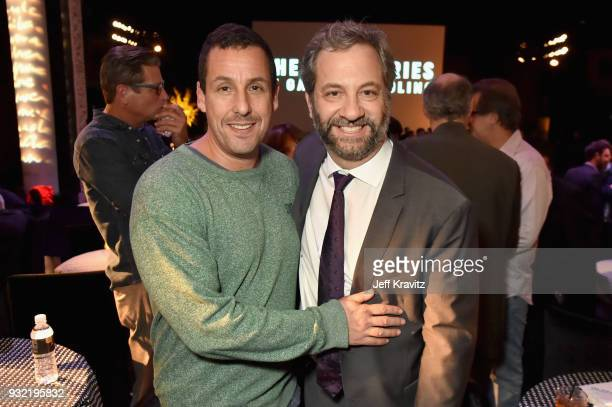 Adam Sandler and Judd Apatow attend the screening of HBO's The Zen Dairies of Garry Shandling at Avalon on March 14 2018 in Hollywood California