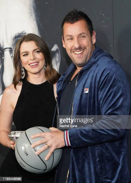 "Adam Sandler and Julia Fox attend the premiere of A24's ""Uncut Gems"" at The Dome at Arclight Hollywood on December 11, 2019 in Hollywood, California."