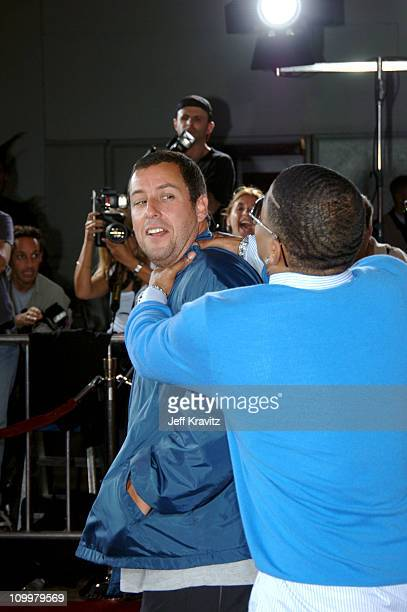 Adam Sandler and Nelly during The Longest Yard Los Angeles Premiere Arrivals at Grauman's Chinese Theater in Hollywood California United States