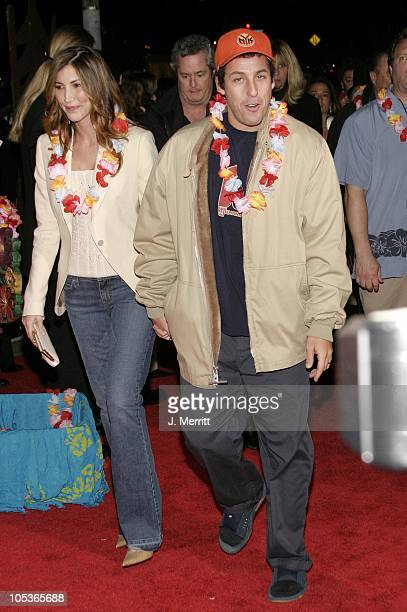 Adam Sandler and wife Jackie Titone during '50 First Dates' Los Angeles Premiere at Mann Village Theatre in Westwood California United States