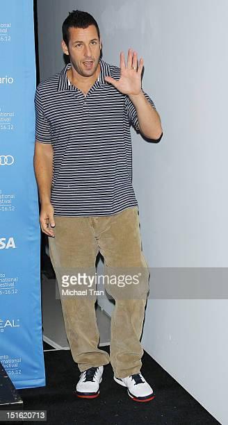 Adam Sandler arrives at 'Hotel Transylvania' photo call during the 2012 Toronto International Film Festival held at TIFF Bell Lightbox on September 8...