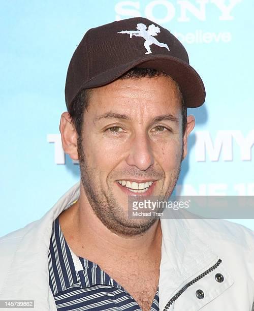 Adam Sandler arrives at the Los Angeles premiere of 'That's My Boy' held at Regency Village Theatre on June 4 2012 in Westwood California