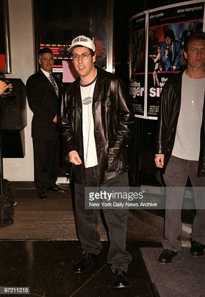 Adam Sandler attending the premiere of his movie 'The Wedding Singer' at Sony Lincoln Square