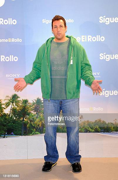 Adam Sandler attends a photocall for 'Sigueme El Rollo' at the Villamagna Hotel on February 22 2011 in Madrid Spain