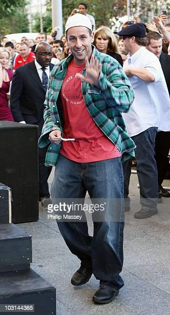 Adam Sandler attends the Dublin Premiere of 'Grown Ups' on July 27 2010 in Dublin Ireland