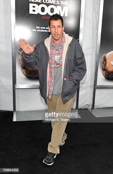 Adam Sandler attends the 'Here Comes The Boom' premiere at AMC Loews Lincoln Square on October 9 2012 in New York City