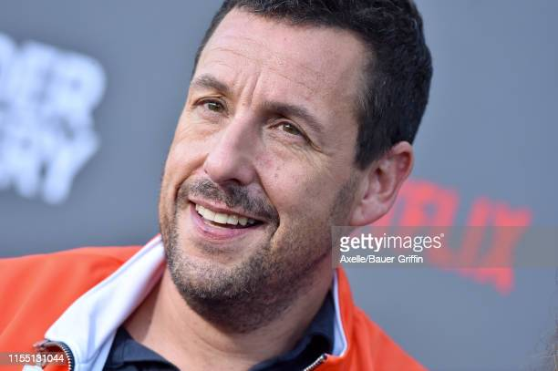 Adam Sandler attends the LA Premiere of Netflix's Murder Mystery at Regency Village Theatre on June 10 2019 in Westwood California
