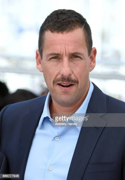 Adam Sandler attends the The Meyerowitz Stories Photocall during the 70th annual Cannes Film Festival at Palais des Festivals on May 21 2017 in...