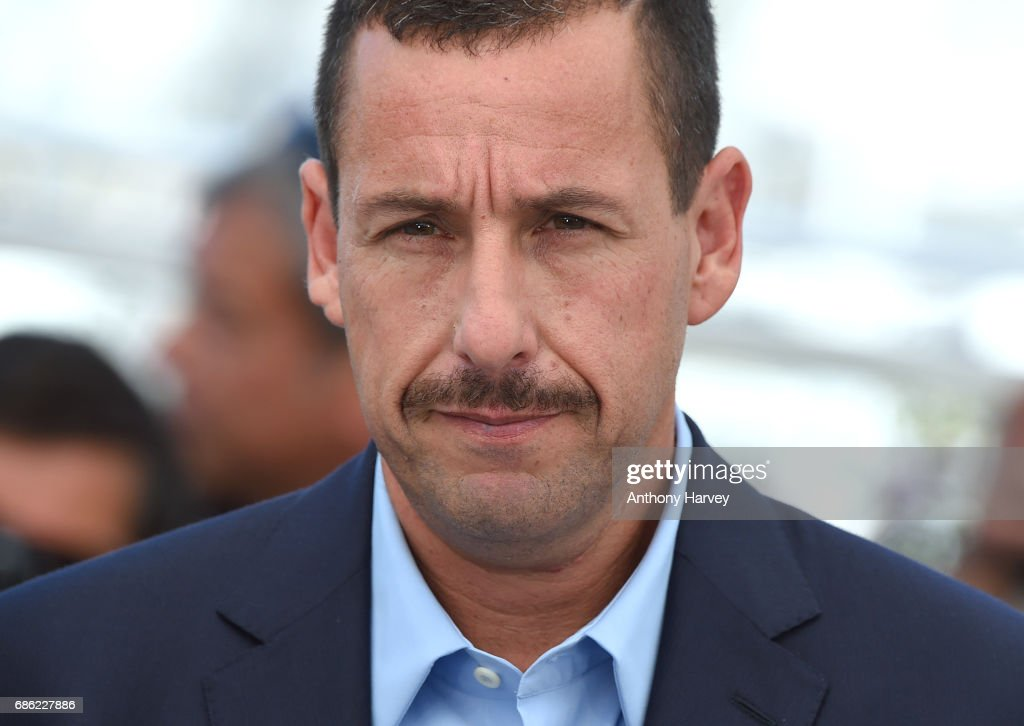 Adam Sandler attends the 'The Meyerowitz Stories' Photocall during the 70th annual Cannes Film Festival at Palais des Festivals on May 21, 2017 in Cannes, France.