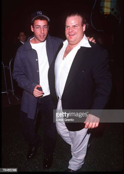 Adam Sandler Chris Farley at the Cineplex Odeon Century Plaza Cinema in Century City California