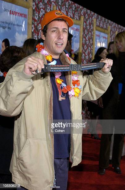Adam Sandler during '50 First Dates' Premiere Red Carpet at Mann Village Theatre in Westwood California United States