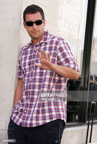 Adam Sandler during Chris Farley Honored Posthumously With a Star on the Hollywood Walk of Fame in Hollywood California United States