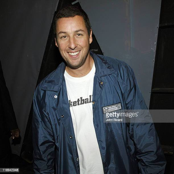 Adam Sandler during Chris Rock and Adam Sandler Visit BET's '106 Park' May 26 2005 at BET Studios in New York City New York United States