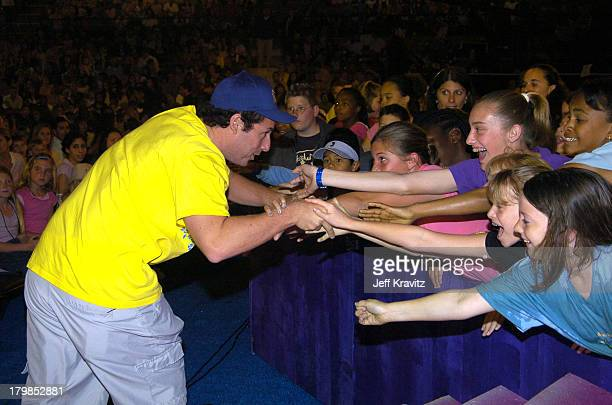 Adam Sandler during Nickelodeon's 17th Annual Kids' Choice Awards Backstage at Pauley Pavillion in Westwood California United States