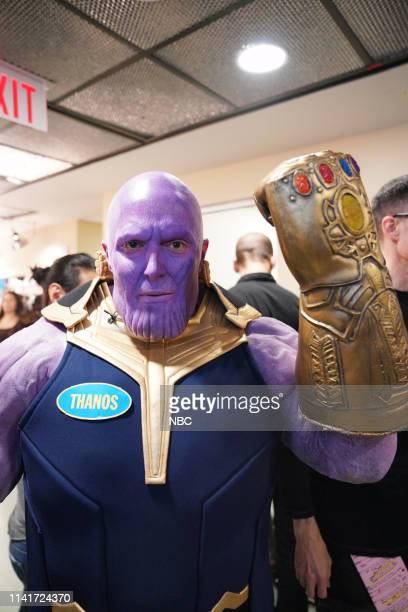LIVE Adam Sandler Episode 1765 Pictured Beck Bennett as Thanos backstage in Studio 8H on Saturday May 4 2019