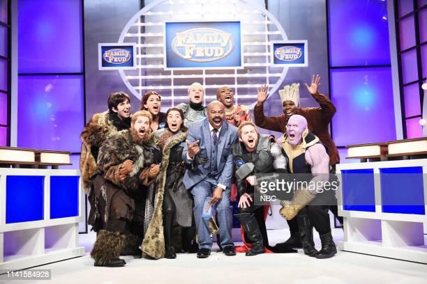 LIVE Adam Sandler Episode 1765 Pictured Kyle Mooney as Bran Stark Mikey Day as Tormund Giantsbane Cecily Strong as Melisandre Melissa Villaseñor as...