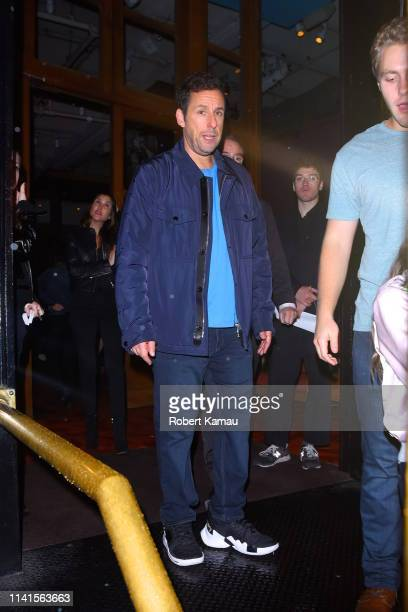 Adam Sandler is seen arriving at an SNL after party at Rosa Mexicano in Manhattan on May 4 2019 in New York City