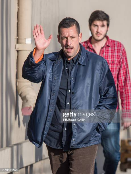 Adam Sandler is seen at 'Jimmy Kimmel Live' on November 13 2017 in Los Angeles California
