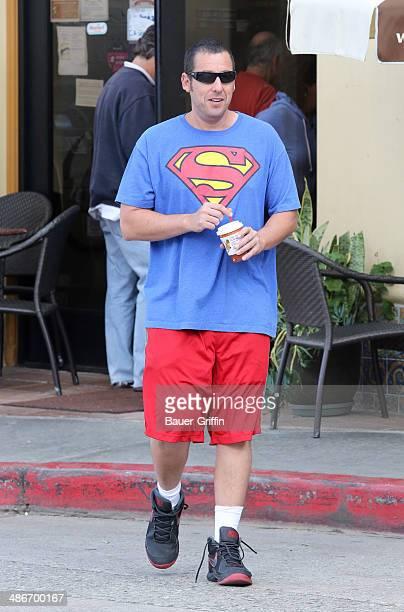 Adam Sandler is seen on April 25 2014 in Los Angeles California