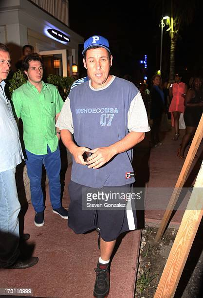 Adam Sandler is sighted at Prime 112 Steakhouse on July 7 2013 in Miami Beach Florida