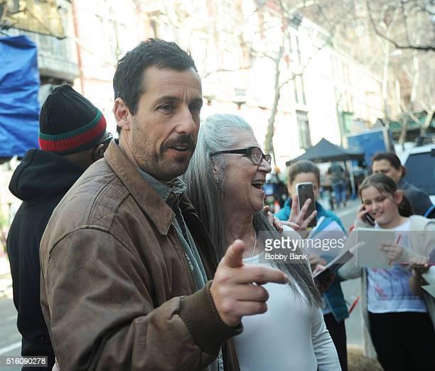 Adam Sandler on the set of director Noah Baumbach's Yah Din Ka Kissa on March 16 2016 in New York City