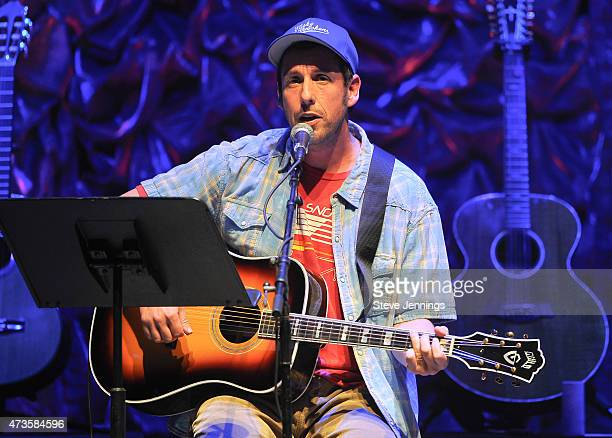 Adam Sandler performs at the 2nd Annual 'Acoustic4ACure' Benefit Concert at The Masonic Auditorium on May 15 2015 in San Francisco California