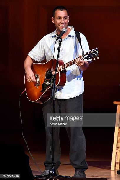 Adam Sandler performs at The New York Comedy Festival at Carnegie Hall on November 14 2015 in New York City