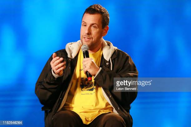 Adam Sandler speak during panel discussion at FYC Event For Netflix's Adam Sandler 100% Fresh at Netflix FYSEE At Raleigh Studios on May 29 2019 in...
