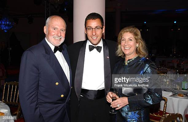 Adam Sandler with Mike Lynn and his wife at the party at Palm Beach following the screening of Punch Drunk Love at the 55th Cannes Film Festival in...