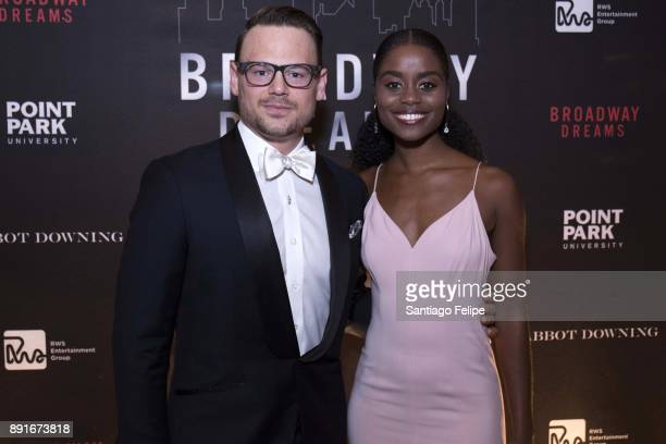 Adam Sansiveri and Dene Benton attend the 10th Annual Broadway Dreams Supper at The Plaza Hotel on December 12 2017 in New York City