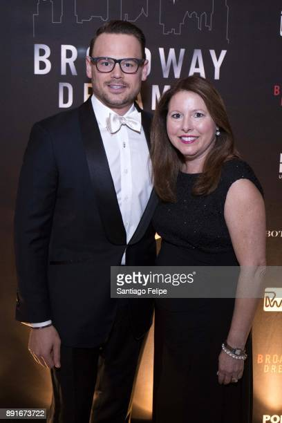Adam Sansiveri and Elizabeth Falkner attend the 10th Annual Broadway Dreams Supper at The Plaza Hotel on December 12 2017 in New York City