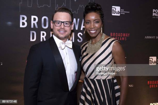 Adam Sansiveri and Heather Headley attend the 10th Annual Broadway Dreams Supper at The Plaza Hotel on December 12 2017 in New York City