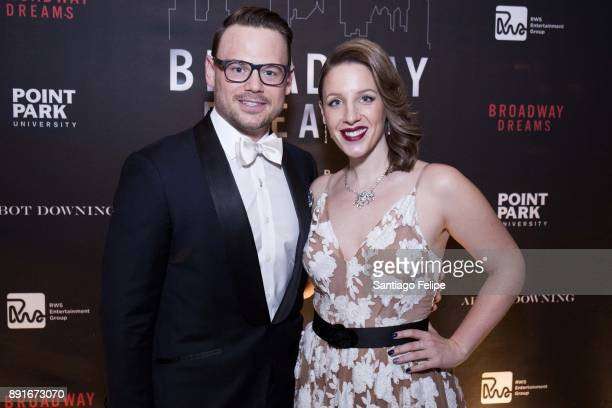 Adam Sansiveri and Jessie Mueller attend the 10th Annual Broadway Dreams Supper at The Plaza Hotel on December 12 2017 in New York City