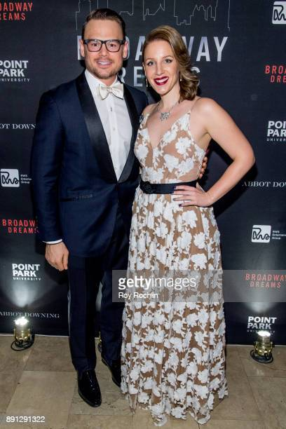 Adam Sansiveri and Jessie Mueller attend the10th Annual Broadway Dreams Supper at The Plaza Hotel on December 12 2017 in New York City