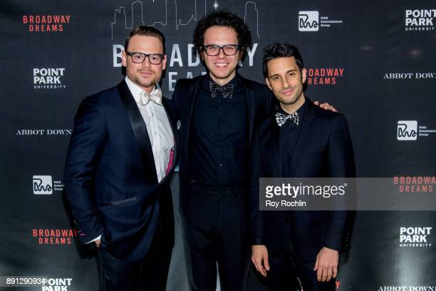 Adam Sansiveri Ian Axel and Chad King attends the10th Annual Broadway Dreams Supper at The Plaza Hotel on December 12 2017 in New York City