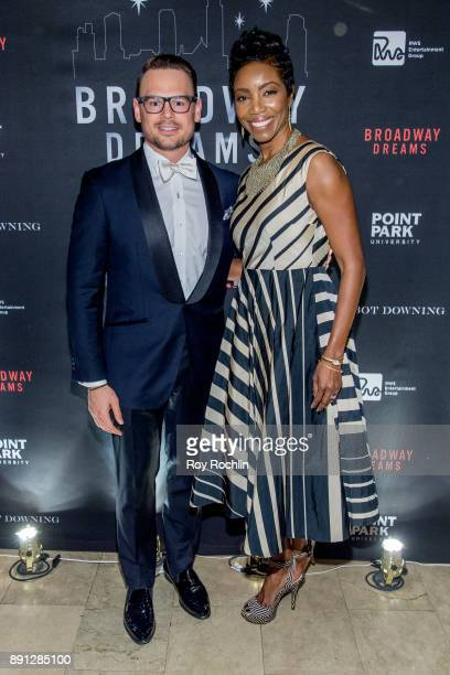 Adam Sansiveri with honoree singer Heather Headley attend the10th Annual Broadway Dreams Supper at The Plaza Hotel on December 12 2017 in New York...