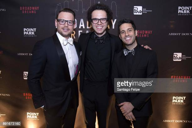 Adam Sansiveri with Ian Axel and Chad King of 'A Great Big World' attend the 10th Annual Broadway Dreams Supper at The Plaza Hotel on December 12...