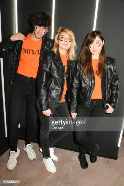 Adam Santa and Line from Hyphen Hyphen band attend YSL Beauty Party During Paris Fashion Week Menswear Fall/Winter 20182019 on January 17 2018 in...