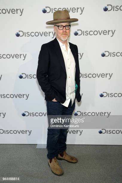 Adam Savage attends the Discovery Upfront 2018 at the Alice Tully Hall at Lincoln Center on April 10 2018 in New York City