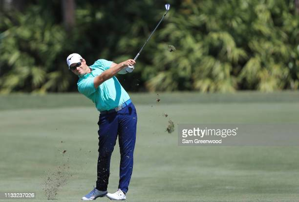 Adam Schenk plays his second shot on the fourth hole during the third round of the Honda Classic at PGA National Resort and Spa on March 02 2019 in...