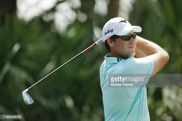 Adam Schenk plays his shot from the second tee during the final round of the Honda Classic at PGA National Resort and Spa on March 03 2019 in Palm...