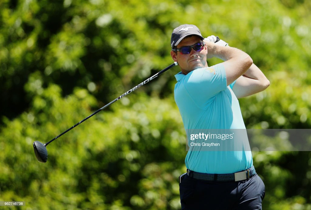 Adam Schenk plays his shot from the second tee during the final round of the Zurich Classic at TPC Louisiana on April 29, 2018 in Avondale, Louisiana.