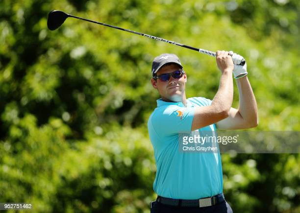 Adam Schenk plays his shot from the second tee during the final round of the Zurich Classic at TPC Louisiana on April 29 2018 in Avondale Louisiana