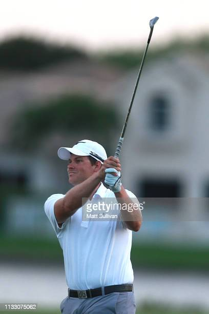 Adam Schenk plays his third shot on the 18th hole during the second round of the Honda Classic at PGA National Resort and Spa on March 01 2019 in...