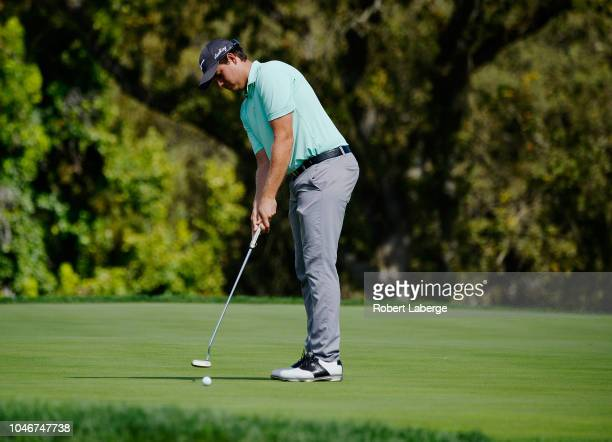 Adam Schenk putts on the third hole during the third round of the Safeway Open at the North Course of the Silverado Resort and Spaon October 6 2018...
