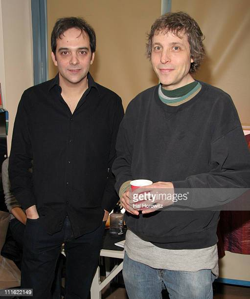 Adam Schlesinger and Marc Lawrence director during VH1 Save The Music Foundation February 13 2007 at Anderson School/PS 334 in New York City New York...