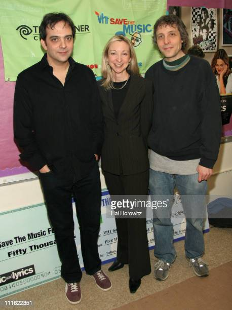 Adam Schlesinger Lauri Schopp and Marc Lawrence during VH1 Save The Music Foundation February 13 2007 at Anderson School/PS 334 in New York City New...