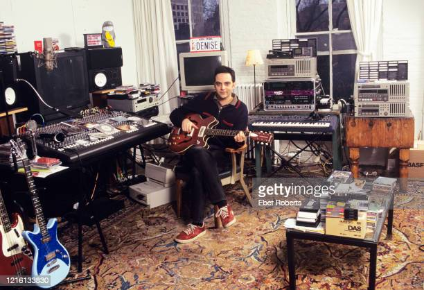 Adam Schlesinger of Fountains Of Wayne at his home studio in New York City on April 11 1999