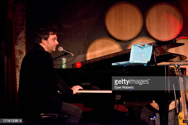 Adam Schlesinger of Fountains of Wayne performs at John Wesley Harding's Cabinet of Wonders concert at the City Winery in New York City on December...